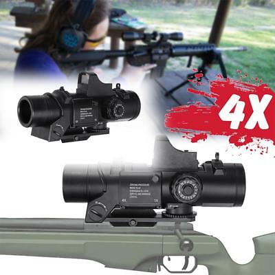 4X Red Dot Sight Tactical Magnifier Scope Primary Hunting For Gel Ball Blaster !