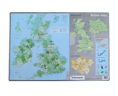 British Isles Desk Mat Durable Desktop Work Map Britain 590 x 400mm