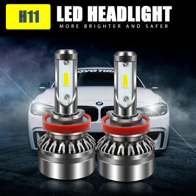 2XLED Headlight Low Beam H8 H9 H11 Bulb For Chevy Silverado 1500 2500 3500 07-16