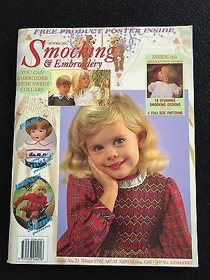 Australian Smocking & Embroidery Magazine ~ Winter 1992 Issue # 21 (+ patterns)