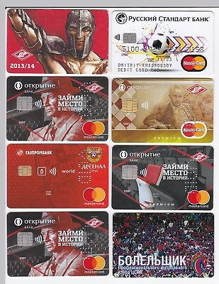 Credit Charge Banking Fan Cards  Football  Soccer   Russia