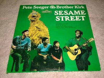 Pete Seeger And Brother Kirk Visit Sesame Street LP Big Bird Oscar The Grouch