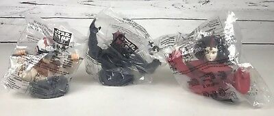 SET OF 3 Star Wars Episode 1 Cup Toppers Taco Bell KFC Pizza Hut 1999 NEW SEALED