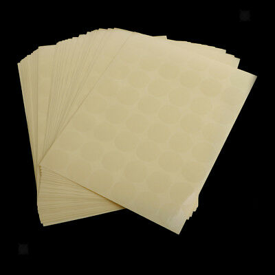 30 Sheets Dia 25mm Round Blank Code Dots Label Sticker Self Adhesive - Clear