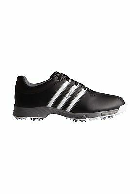 8c814bfdc Adidas Junior 360 Traxion Golf Shoes Black White 3.5