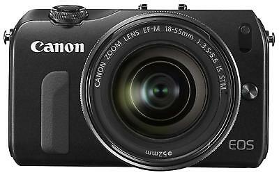 USED Canon Mirrorless Camera EOS M Lens Kit EF-M18-55mm F3.5-5.6 Black Japan F/S