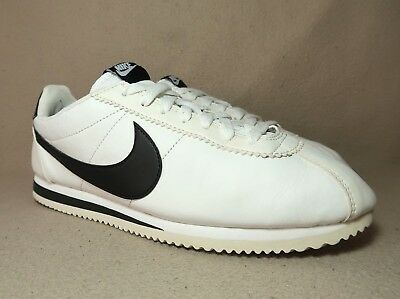 newest collection 100% high quality innovative design NIKE CORTEZ CLASSIC Women's White/Black Leather Trainers UK ...
