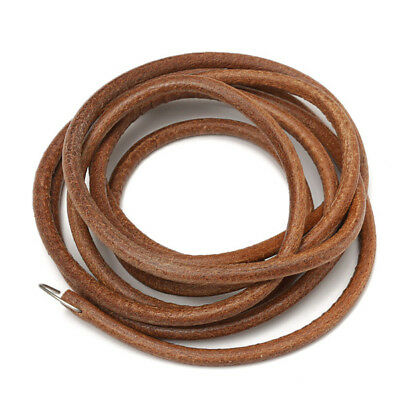 183cm Leather Belt Treadle Parts With Hook For Singer Sewing Machine 5mm Diam...