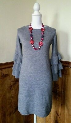 Moon River Womens Turtleneck Sweater Tunic Size Small Gray Nwt
