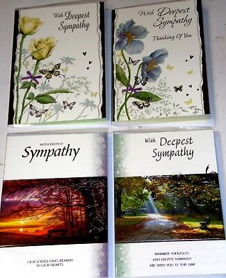 SYMPATHY CARDS FEMALE x 36 just 28p per card, 6 DESIGNS X 6, FOILED,WRAPPED,
