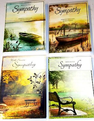 SYMPATHY CARDS MALE x 36 just 28p per card, 6 DESIGNS X 6, FOILED,WRAPPED,