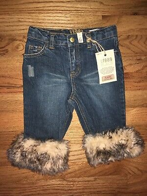 NWT Sz toddler 3T THE CHILDREN'S PLACE FLARE adjustable waist fur denim jeans