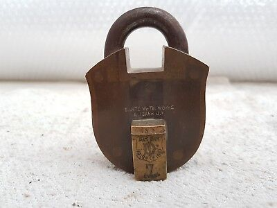 1920s Vintage Rare Patent No. 194 Of 1910s 39 No. 7 Levers Heavy Brass Padlock