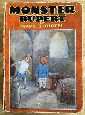 MARY TOURTEL MONSTER RUPERT 1934 Lacks spine cover Good reading copy Scarce