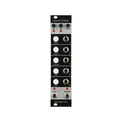 Antimatter Audio Launch Codes Eurorack Trigger & Gate Sequencer Module