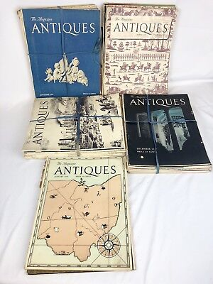 The Magazine Antiques 1943-1947 Lot of 45 Issues