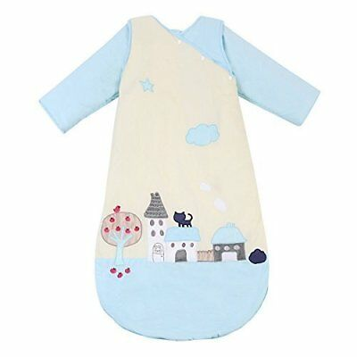 Baby Sleeping Bag Sack w Removable Long Sleeve Vest Sleep Wearable Blanket 6m-2y