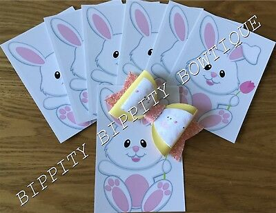 20 Premium Quality A6 Glossy Printed Hair Bow Bunny Display Cards/Holders...