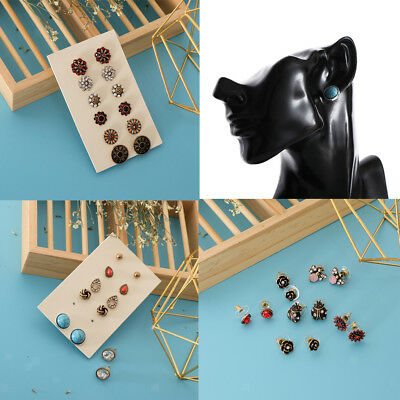 6 Pairs Vintage Boho Style Multiple Assorted Stud Earrings for Women Girls