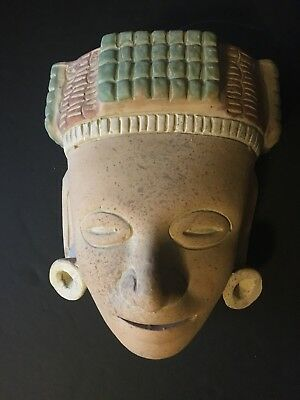 Mexico Mayan Indian Ceramic Mask Mexican Folk Art