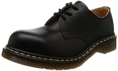 Dr Martens steel toe shoes Black genuine fine haircell size 5