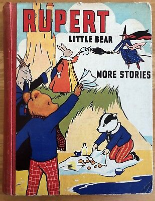 MARY TOURTEL LITTLE BEAR MORE STORIES RUPERT 1941 with Cut-Outs & Frontispiece