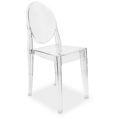 Clear Dining Chairs Armchair Ghost Style Retro Kitchen Office Chair Set 2 4 6 8