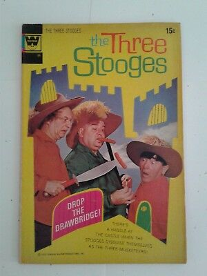 The Three Stooges #55  (Last - Final Issue) Whitman Variant Fn Fine