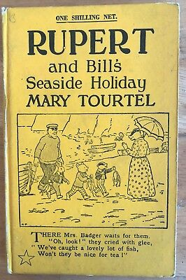 Mary Tourtel Rupert & BILL's SEASIDE HOLIDAY Little Bear Library No 45 1930's VG