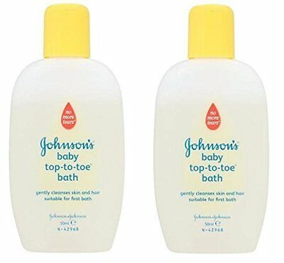 2 x Johnsons No More Tears Baby Top-to-Toe Bath 50ml