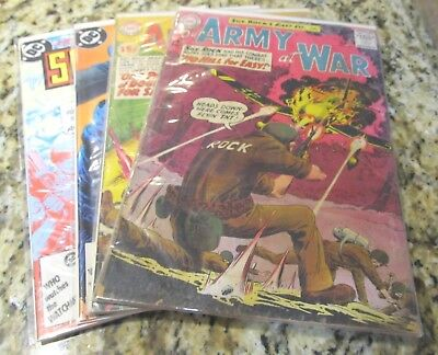 Our Army at War #130 131  417 418 SILVER AGE LOT  Sgt Rock lot comics