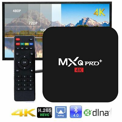 MXQ Pro 4K 64Bit Android 7.1 Quad Core Smart TV Box KODI S905W Streamer 2GB+16GB