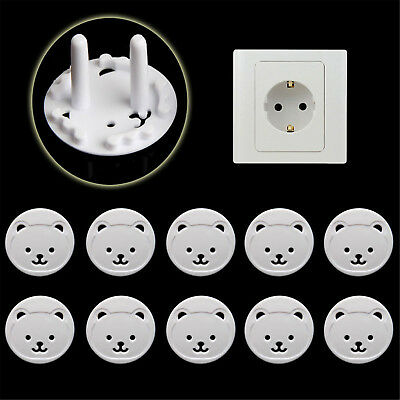 10X Power Kid Socket Cover Baby Child Protector Guard Mains Point Plug Bear Best