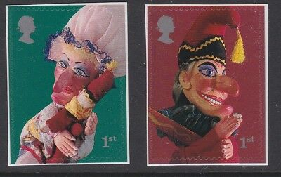 GB EII 2001 Punch & Judy self adhesives sg2030 & sg2031 MNH