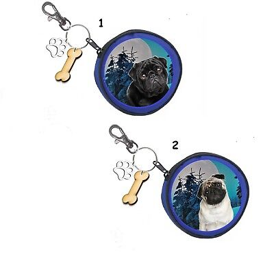 Mops Pug Münze Geldbörse Coin Purse Oder Snackbeutel Or Treat Bag Hunde Damen-accessoires