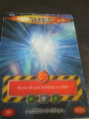 Dr who battles in time card number 74 Tardis
