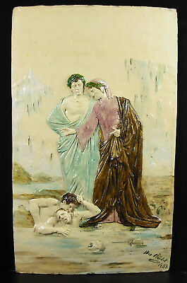 Max CLAUDET Dante & Virgil to hell the divine comedy 59-36cm 3,8kg 1888 hell