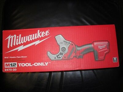 Milwaukee 2470-20 M12 Li-Ion Plastic Pipe Shear Cordless 12 Volt New