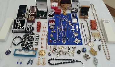 Solid Silver & Vintage /costume Jewellery ,jewellery Boxes,boxes,,,job Lot