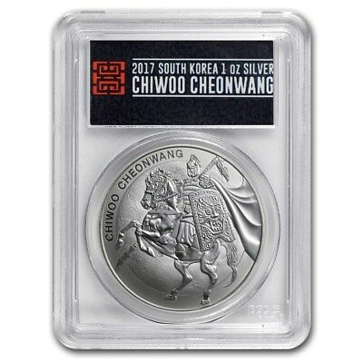 2017 South Korea Silver Chiwoo Cheonwang 1oz PCGS MS70 First Strike