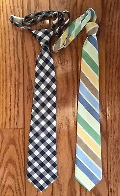 The Childrens Place Boys Infant Toddle Dress Neck Tie lot of 2   4-7 & 24mo-4T