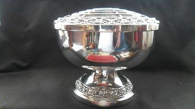 Lovely English-made  vintage style silver-plated posy bowl, by Ianthe.
