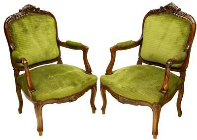 FOUR FRENCH LOUIS XV STYLE FAUTEUIL ARMCHAIRS and SIDECHAIRS vintage/antique!!