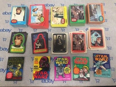 Vintage 1977 STAR WARS TOPPS cards sets Series 1-5 with Complete w stickers