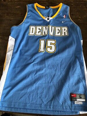 outlet store b54da 3878a VINTAGE NIKE CARMELO ANTHONY #15 Denver Nuggets Jersey Size Large L