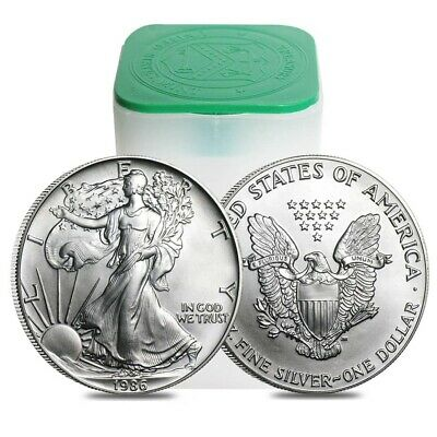 Roll of 20 - 1986 1 oz Silver Eagle Brilliant Uncirculated