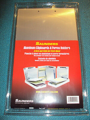 Office Car Delivery Clipboard Forms Holder, Aluminum, Saunders, New