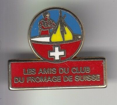 Rare Pins Pin's .. Aliment Lait Fromage Cheese Amis Du Club De Suisse Swiss ~C5