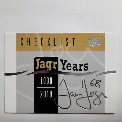 2018-19 Upper Deck Series 1 Jagr Years Inserts  U Pick