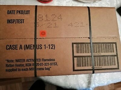 US MRE RATION CASE A or B MENU, Military Food Army MRE Ration Emergency 2021